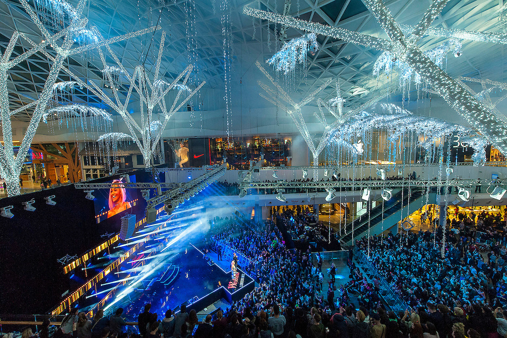 Rita Ora Switches On Christmas Lights at Westfield London, Shepherdís Bush