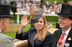 HRH PRINCESS BEATRICE OF YORK and the HON.CHARLES FELLOWES at day one of the Royal Ascot 2016 Racing Festival at Ascot Racecourse, Berkshire on 14th June 2016.