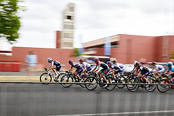 Hannah Ludwig (GER) on the front during Stage 4 of 2020 Santos Women's Tour Down Under, a 42.5 km road race in Adelaide, Australia on January 19, 2020. Photo by Sean Robinson/velofocus.com