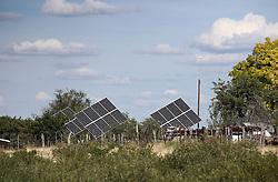 NAMIBIA KAMANJAB 27APR14 - Solar panels  at the Ojitotongwe Cheetah farm near Kamanjab, Namibia.<br /> <br /> <br /> <br /> jre/Photo by Jiri Rezac<br /> <br /> <br /> <br /> © Jiri Rezac 2014