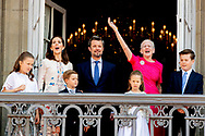 26-5-2018 COPENHAGEN - birthday party for prince Frederick 50 birthday at the palace Queen Margrethe,, Crownprince Frederik, Crownprincess Mary, Prince Christian, Princess Josephine of Denmark, Princess Isabella of Denmark, Prince Vincent of Denmark ROBIN UTRECHT<br /> <br /> 26-5-2018 COPENHAGEN - verjaardagsfeestje voor prins Frederik 50ste verjaardag in het paleis Koningin Margrethe, Kroonprins Frederik, Kroonprinses Maria, Prins Christian, Prinses Josephine of Denemarken, Prinses Isabella of Denemarken, Prins Vincent of Denemarken ROBIN UTRECHT