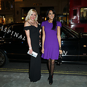 Michelle Palmer and Jackie St Claire attends the Aspinal of London store on Regent's Street St. James's on December 5, 2017 in London, England.