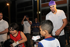 August 25, 2011: UFC 134 in Rio - Brendan Schaub visits Muy Thai Class in Favela