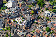 Nederland, Gelderland, Achterhoek, 29-05-2019; overzichtsfoto centrum  Winterswijk met markt op de Markt, Jacobskerk.<br /> Overview city centre Winterswijk market.<br /> <br /> luchtfoto (toeslag op standard tarieven);<br /> aerial photo (additional fee required);<br /> copyright foto/photo Siebe Swart