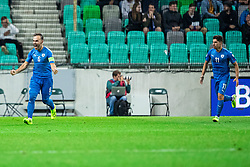 Bibras Natcho of Israel and Manor Solomon of Israel during the 2020 UEFA European Championships group G qualifying match between Slovenia and Israel at SRC Stozice on September 9, 2019 in Ljubljana, Slovenia. Photo by Grega Valancic / Sportida