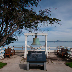 1910 Bell at Entrance to Angel Island Immigration Station, Angel Island State Park, San Francisco Bay, California, US