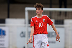 MERTHYR TYDFIL, WALES - Thursday, November 2, 2017: Wales' Callum Jones during an Under-18 Academy Representative Friendly match between Wales and Newport County at Penydarren Park. (Pic by David Rawcliffe/Propaganda)