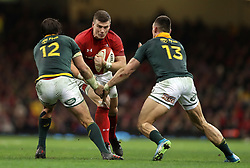 Wales' Scott Williams (centre) and South Africa's Francois Venter (left) and Jesse Kriel during the Autumn International at the Principality Stadium, Cardiff.