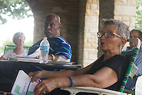 The Jackson Park Advisory Council held a &ldquo;pot luck&rdquo; dinner and meeting Monday evening at the Iowa Building in Jackson Park in front of the Museum of Science and Industry. The purpose of the meeting was to talk about park issues and get community feedback.<br /> <br /> 2844, 2851 &ndash; Dr. Dwight Powell and Jackson Park Advisory Council President, Loise Mcurry.<br /> <br /> Please 'Like' &quot;Spencer Bibbs Photography&quot; on Facebook.<br /> <br /> All rights to this photo are owned by Spencer Bibbs of Spencer Bibbs Photography and may only be used in any way shape or form, whole or in part with written permission by the owner of the photo, Spencer Bibbs.<br /> <br /> For all of your photography needs, please contact Spencer Bibbs at 773-895-4744. I can also be reached in the following ways:<br /> <br /> Website &ndash; www.spbdigitalconcepts.photoshelter.com<br /> <br /> Text - Text &ldquo;Spencer Bibbs&rdquo; to 72727<br /> <br /> Email &ndash; spencerbibbsphotography@yahoo.com