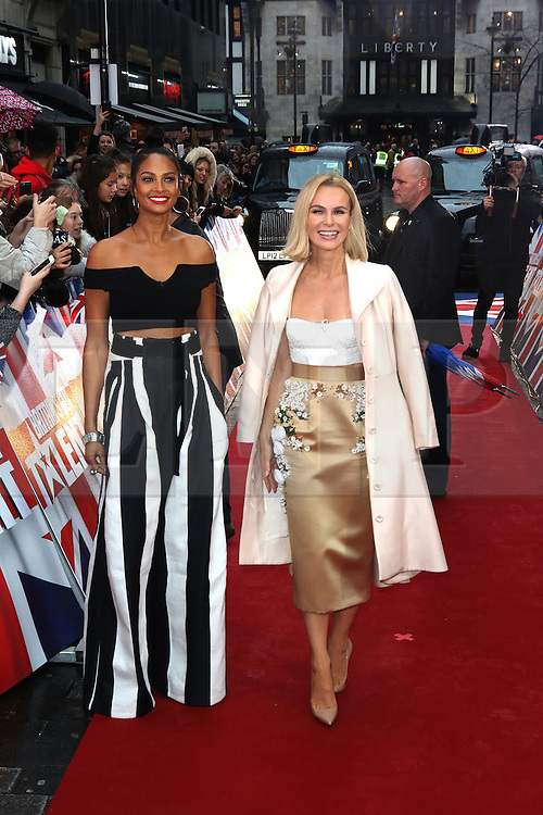 © Licensed to London News Pictures. 29/01/2017. London, UK, Alesha Dixon; Amanda Holden, Britain's Got Talent - London photocall, Photo credit: Richard Goldschmidt/LNP
