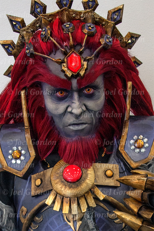 Cosplay attendee as Ganondorf from the Legend of Zelda series.<br />