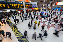 © Licensed to London News Pictures. 06/12/2016. London, UK. Passengers experience severely reduced and disrupted rail services as Southern Rail train drivers in the ASLEF and RMT unions have announced industrial action, starting this morning. Photo credit : Tom Nicholson/LNP