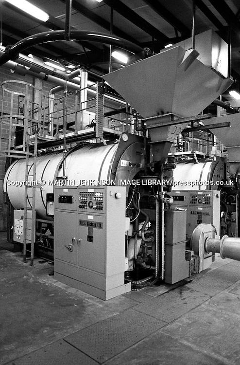 Coalmaster 3 fluidised bed boiler,Stillingfleet Mine. 1983