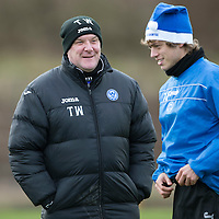 St Johnstone Training....20.12.13<br /> Manager Tommy Wright pictured in training today ahead of tomorrow's game at Hibs.<br /> Picture by Graeme Hart.<br /> Copyright Perthshire Picture Agency<br /> Tel: 01738 623350  Mobile: 07990 594431