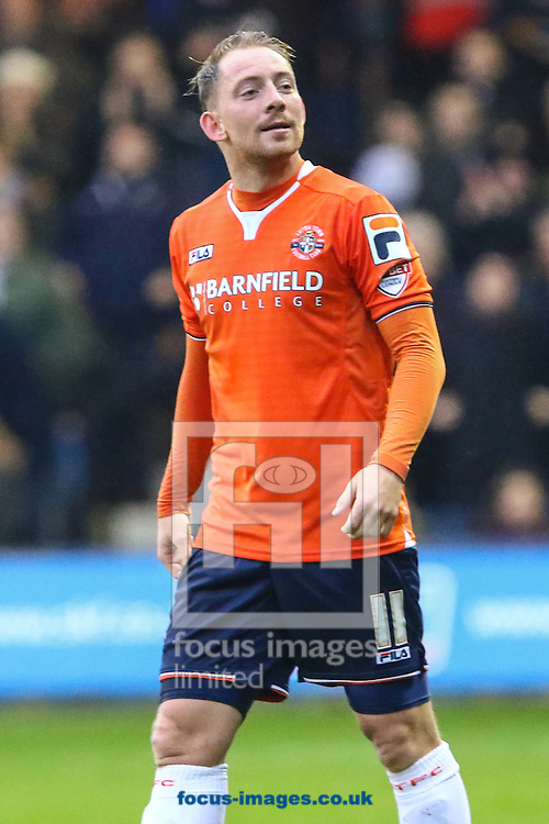 Danny Green of Luton Town celebrates scoring the opening goal against Barnet during the Sky Bet League 2 match at Kenilworth Road, Luton<br /> Picture by David Horn/Focus Images Ltd +44 7545 970036<br /> 14/11/2015