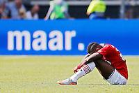 ALKMAAR - 23-08-15, AZ - Willem II, AFAS Stadion, 0-0, teleurstelling, AZ speler Ridgeciano Haps.