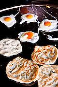 Eggs and roti at Thaew Nam Roti, Phuket.