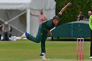 Matt Milnes during the friendly match between Nottinghamshire County Cricket Club and Northamptonshire County Cricket Club at Grantham CC, Grantham, United Kingdom on 5 July 2017. Photo by Simon Trafford.