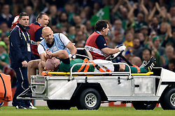 Paul O'Connell of Ireland is helped off the field at half-time because of injury - Mandatory byline: Patrick Khachfe/JMP - 07966 386802 - 11/10/2015 - RUGBY UNION - Millennium Stadium - Cardiff, Wales - France v Ireland - Rugby World Cup 2015 Pool D.