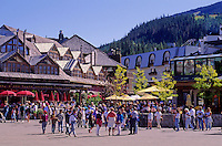 Whistler Village main square, Village Square, as seen in the summmer