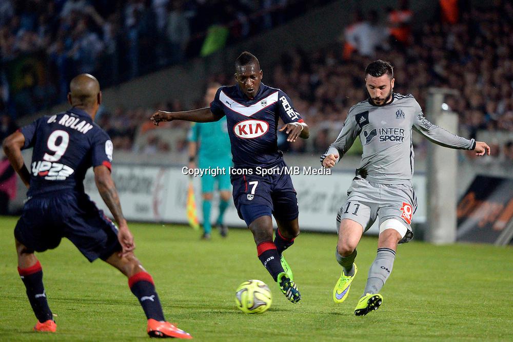 Abdou TRAORE / Romain ALESSANDRINI  - 12.04.2015 - Bordeaux / Marseille - 32eme journee de Ligue 1 <br />Photo : Caroline Blumberg / Icon Sport