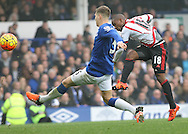 Jermain Defoe of Sunderland scores the first goal against Everton during the Barclays Premier League match at Goodison Park, Liverpool.<br /> Picture by Michael Sedgwick/Focus Images Ltd +44 7900 363072<br /> 01/11/2015