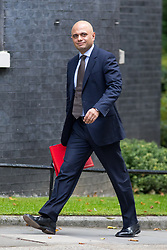 © Licensed to London News Pictures. 21/09/2017. London, UK. Communities and Local Government Secretary Sajid Javid arriving in Downing Street to attend a Cabinet meeting this morning. Photo credit : Tom Nicholson/LNP