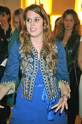 PRINCESS BEATRICE OF YORK at a reception in aid of Children in Crisis held at the Roger Vivier store, 188 Sloane Street, London on 19th March 2009.