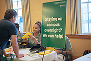 Housing and Residence Life staff assist parents and students at Bobcat Student Orientation. Photo by Ben Siegel