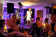 BEVERLEY KNIGHT on stage, The Tomodachi ( Friends) Charity Dinner hosted by Chef Nobu Matsuhisa in aid of the Japanese Tsunami Appeal. Nobu Park Lane. London. 4 May 2011. <br /> <br />  , -DO NOT ARCHIVE-© Copyright Photograph by Dafydd Jones. 248 Clapham Rd. London SW9 0PZ. Tel 0207 820 0771. www.dafjones.com.