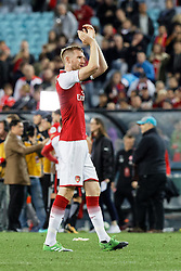 July 15, 2017 - Sydney, New South Wales, Australia - Arsenal player, Per Mertesacker thanking the crowd at the end of the game.FA Cup Champions Arsenal wins 3-1 over Western Sydney Wanderers FC at ANZ Stadium. (Credit Image: © United Images/Pacific Press via ZUMA Wire)