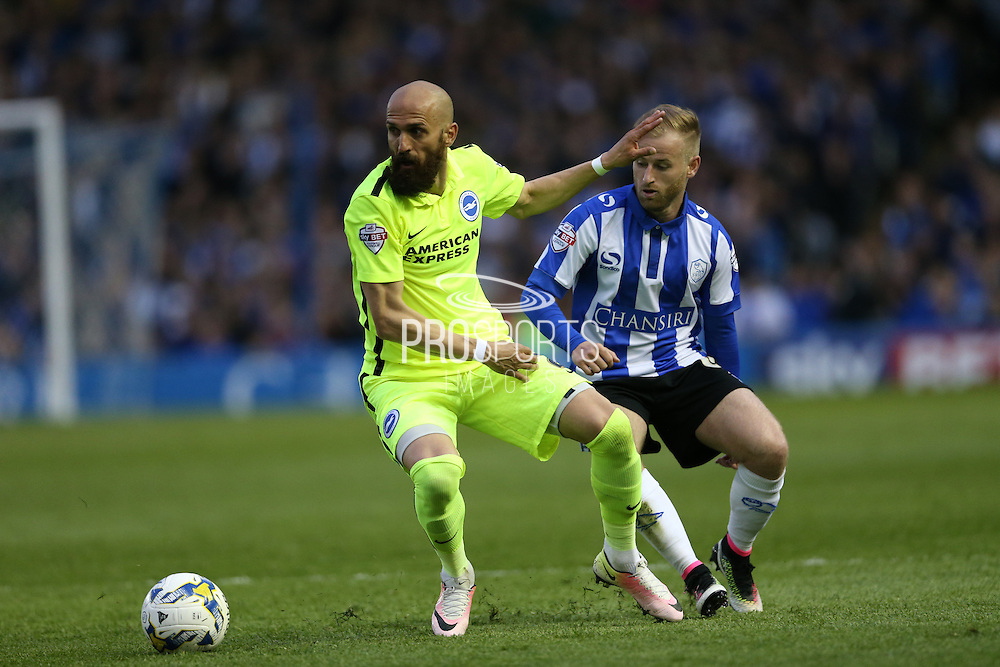 Brighton defender, Bruno Saltor (2) during the Sky Bet Championship Play Off First Leg match between Sheffield Wednesday and Brighton and Hove Albion at Hillsborough, Sheffield, England on 13 May 2016.