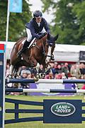 Class Affair ridden by Zara Tindall in the Equi-Trek CCI-4* Show Jumping during the Bramham International Horse Trials 2019 at Bramham Park, Bramham, United Kingdom on 9 June 2019.