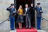 Nieuwjaarsontvangst koning en koningin voor  Corps Diplomatique