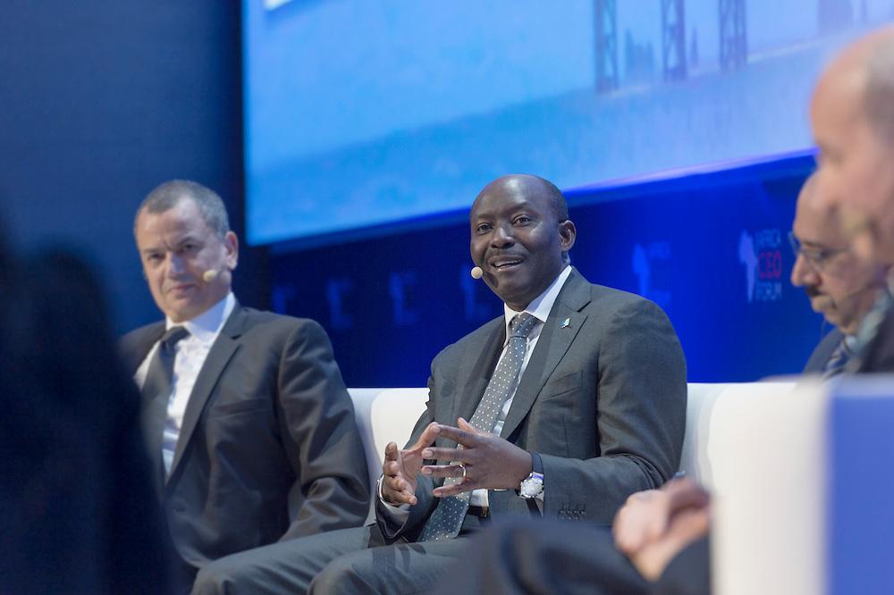 """Henri Claude Oyima, CEO BGFI Bnak, lors du Panel Croissance: """"Champions africains: comment s'assurer une croissance rentable?"""", 16 mars 2015, Africa Ceo Forum 2015"""