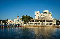 CIENFUEGOS, CUBA - CIRCA JANUARY 2020: View of the Club and Marina of Cienfuegos