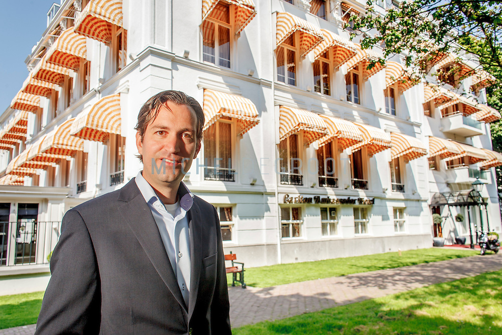 Jim Halfens, CEO and owner of Divorcehotel.com at the Carlton Ambassador Hotel in The Hague, the Netherlands