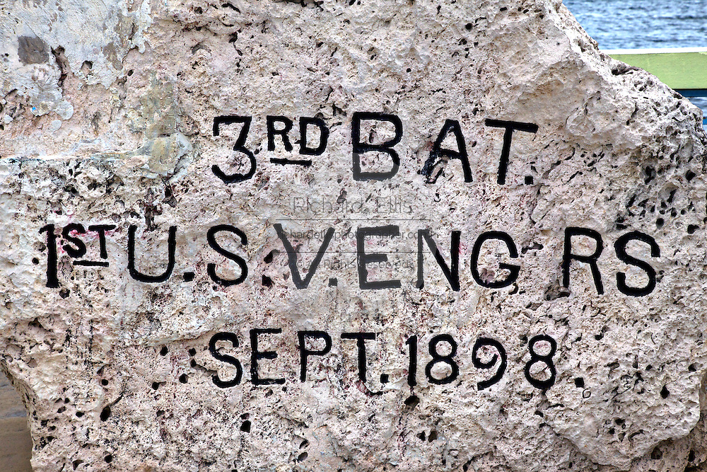 Commemorative stone placed by the Daughters of the American Revolution to mark the point in Guanica, on the Southwest coast of Puerto Rico where US Forces entered Puerto Rico in 1896 during the Spanish-American War. Puerto Rico has been a US territory since.