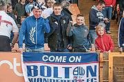 Bolton Wanderers fans before the EFL Sky Bet League 1 match between Port Vale and Bolton Wanderers at Vale Park, Burslem, England on 22 April 2017. Photo by Mark P Doherty.