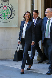 © Licensed to London News Pictures. 19/09/2019. London, UK. Businesswoman and political activist GINA MILLER leaves UK Supreme Court in London at the end of the three day appeal hearing in the multiple legal challenges against the Prime Minister Boris Johnson's decision to prorogue Parliament ahead of a Queen's speech on 14 October. Since Tuesday 17 September, eleven instead of the usual nine Supreme Court justices have been hearing the politically charged claim that Boris Johnson acted unlawfully in advising the Queen to suspend parliament for five weeks in order to stifle debate over the Brexit crisis.It is the first time the Supreme Court has been summoned for an emergency hearing outside legal term time.Lady Hale, the first female president of the court who retires next January, has been preside the Brexit-related judicial review cases. Photo credit: Dinendra Haria/LNP