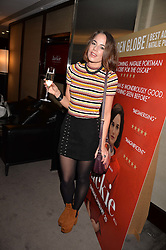 Emma Conybeare at a private screening of Jackie hosted by Rosie Nixon and Tabitha Webb at the Bulgari Hotel, 171 Knightsbridge, London,  England. 12 January 2017.