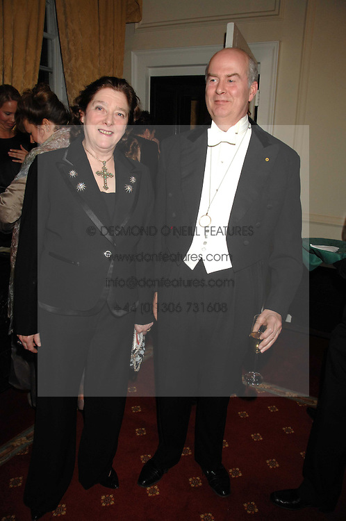 SIR DAVID & the HON.LADY ROCHE at the 2008 Berkeley Dress Show at the Royal Hospital Chelsea, London on 3rd April 2008.<br />