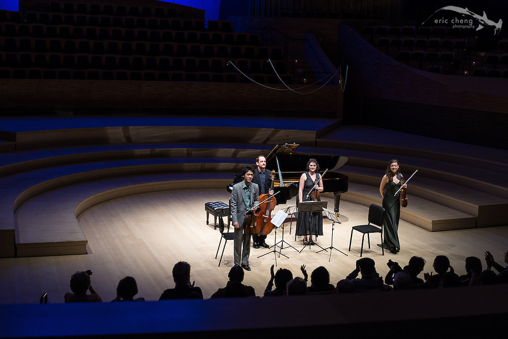 The Diligent String Quartet plays at the SLSQ Chamber Music Seminar 2014 International Showcase at Bing Concert Hall, Stanford University. #slsq2014
