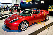 The TESLA Roadster at the 2009 NAIAS, North American International Auto Show, held in Detroit Michigan.