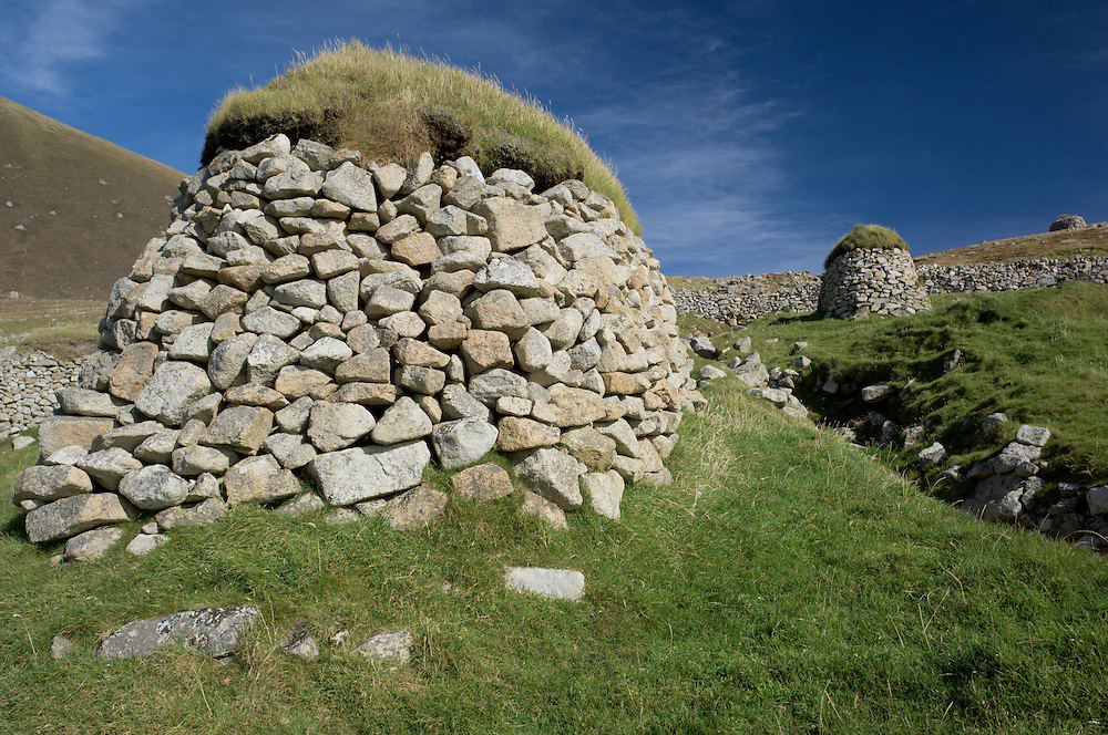 Cleits used for storing food on St. Kilda
