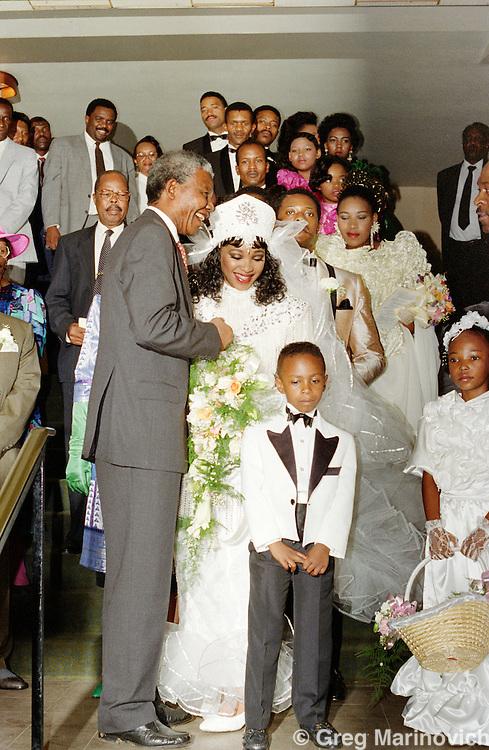 Nelson Mandela at his daughter Zinzi's wedding, Johannesburg, 25 October 1992