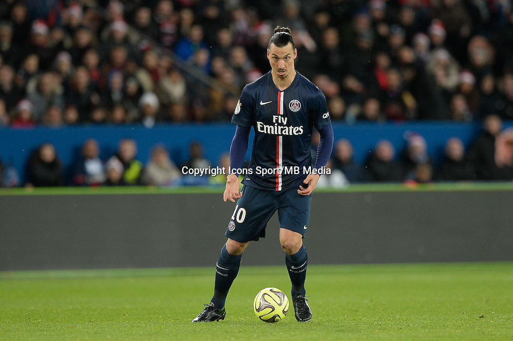 Zlatan IBRAHIMOVIC - 20.12.2014 - Paris Saint Germain / Montpellier - 17eme journee de Ligue 1 -<br />Photo : Aurelien Meunier / Icon Sport