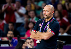 Sasha Aleksandar Djordjevic, head coach of Serbia during basketball match between National Teams of Serbia and Hungary at Day 11 in Round of 16 of the FIBA EuroBasket 2017 at Sinan Erdem Dome in Istanbul, Turkey on September 10, 2017. Photo by Vid Ponikvar / Sportida