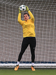 Manchester City goalkeeper Ederson during the training session at the City Football Academy, Manchester.