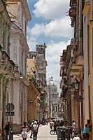 Old Havana has stunning architecture lining its cobblestone streets.
